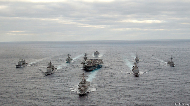 Rep. Randy Forbes vows to preserve the USS George Washington, seen here at the center of its battlegroup