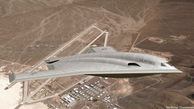 An artist's concept for a stealthy future Long-Range Strike Bomber.