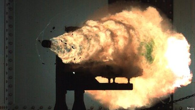Navy rail gun test