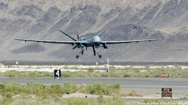 MQ-9 Reaper drone.