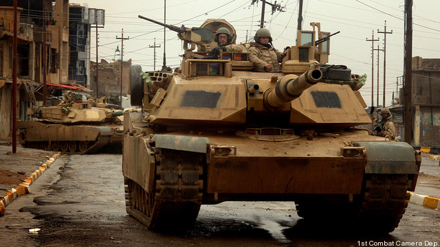 M1 Abrams tanks in Iraq