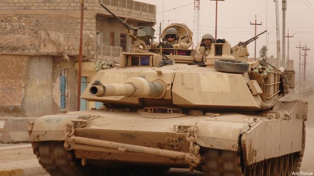 An M1 Abrams tank.