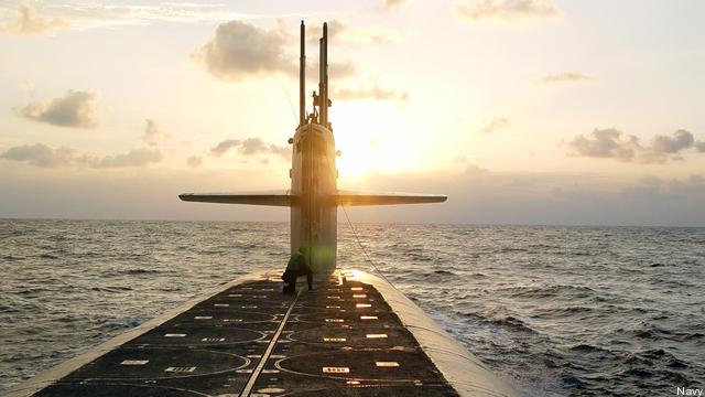 An Ohio-class nuclear missile submarine (SSBN).