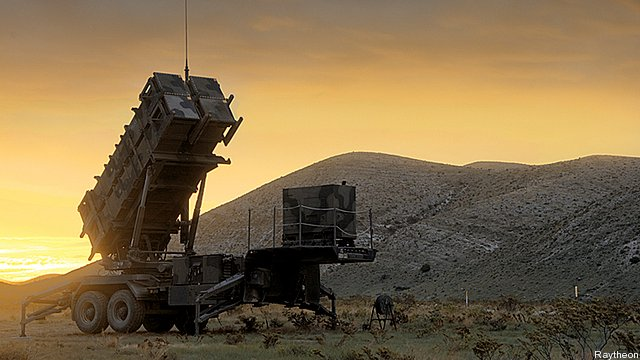 Patriot missile launcher