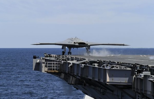 The Navy's X-47B drone becomes the first unmanned aircraft to launch from an aircraft carrier.