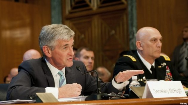 Army Sec. John McHugh and Chief of Staff Gen. Ray Odierno testify before Congress.