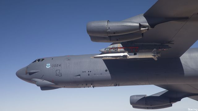 "A B-52 prepares to launch the X-51 ""hypersonic"" test vehicle."