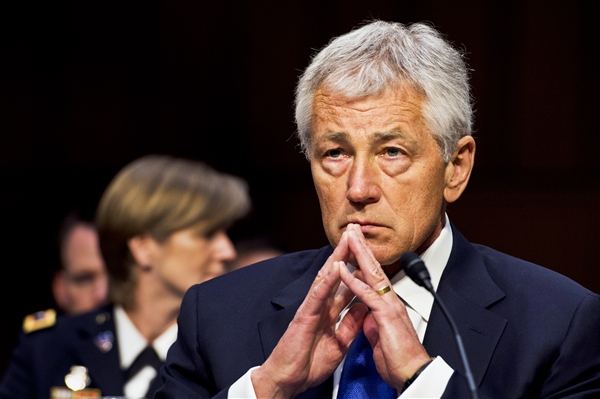 Defense Secretary Chuck Hagel looking concerned scr_130417-M-EV637-190c