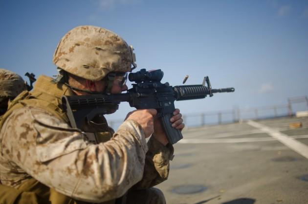 Marine firing M4 carbine 120511-M-0000Q-008