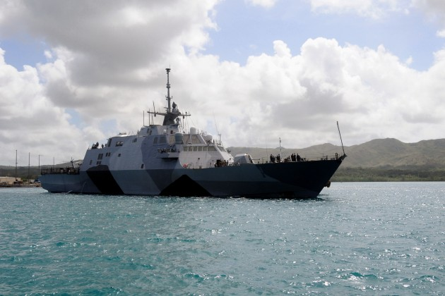 The first Littoral Combat Ship, USS Freedom, on its way to Singapore last year.