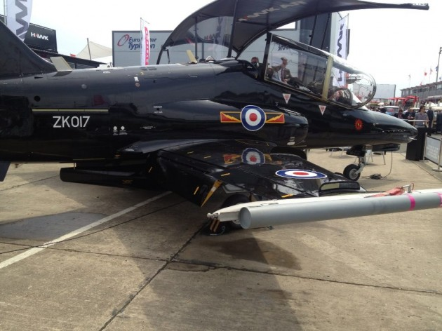 The Hawk trainer by BAE Systems, already being used by the Royal Air Force.