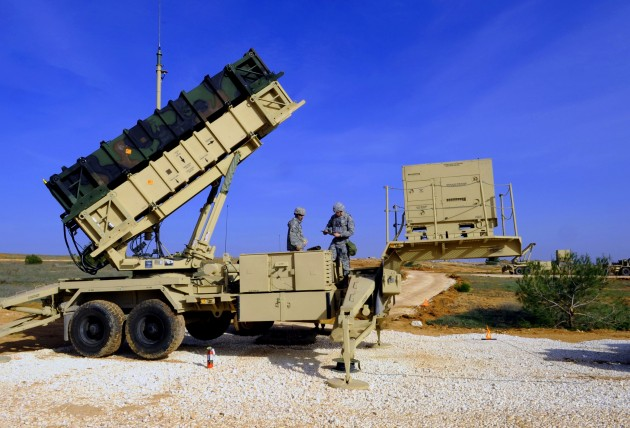 Patriot anti-missile battery in Turkey