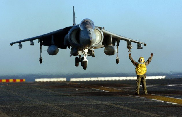 A Marine Corps AV-8B Harrier like those that jettisoned live bombs near Australia's Great Barrier Reef.