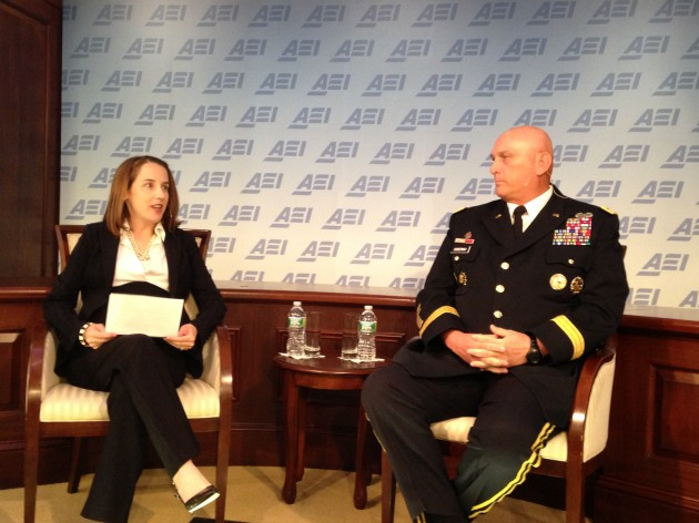 BreakingDefense contributor Mackenzie Eaglen quizzes Army Gen. Ray Odierno this morning at AEI.