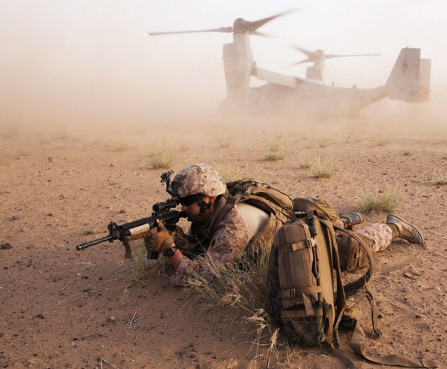 marines in afghanistan with v-22