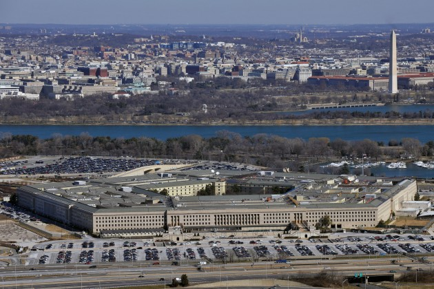Pentagon & beyond - view of DC over river - 032113-Pentagon-full
