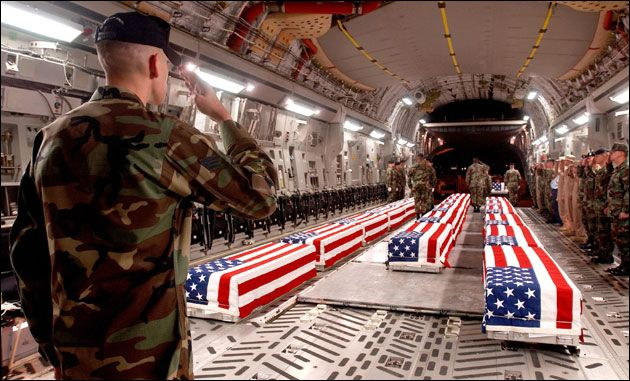 Coffins at Dover Air Force Base