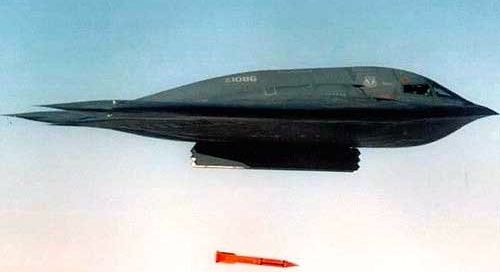 B61 being dropped by B-2