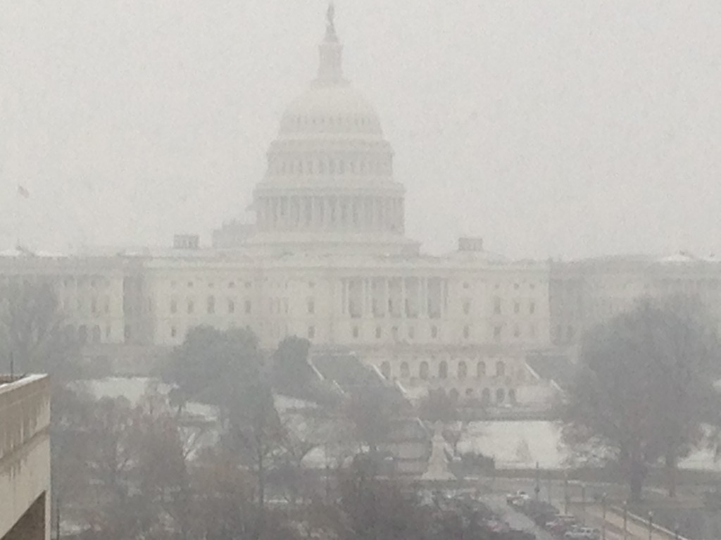 The US Capitol seen from the Newseum this morning during a US Naval Institute conference.