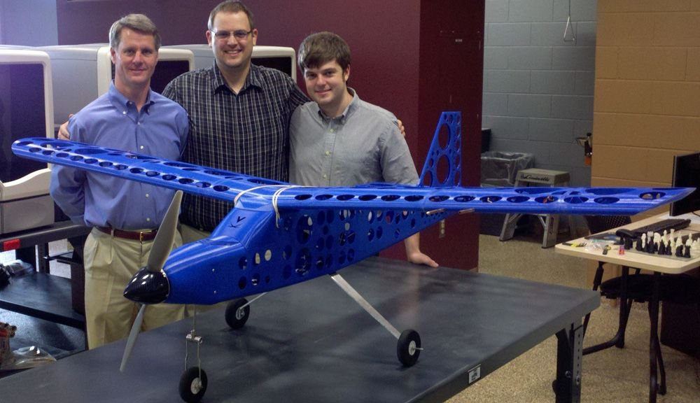 A working plane printed by graduate students at University of Virginia.