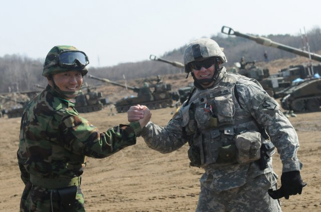 ROK Korea - Utah Army National Guard training