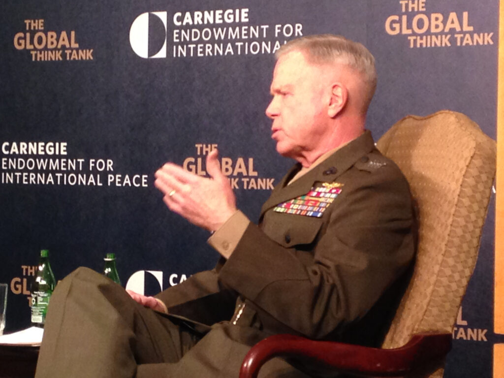 Gen. James Amos, Commandant of the US Marine Corps, speaking at the Carnegie Endowment this afternoon.
