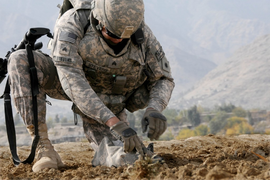 A California National Guard soldier in Afghanistan.