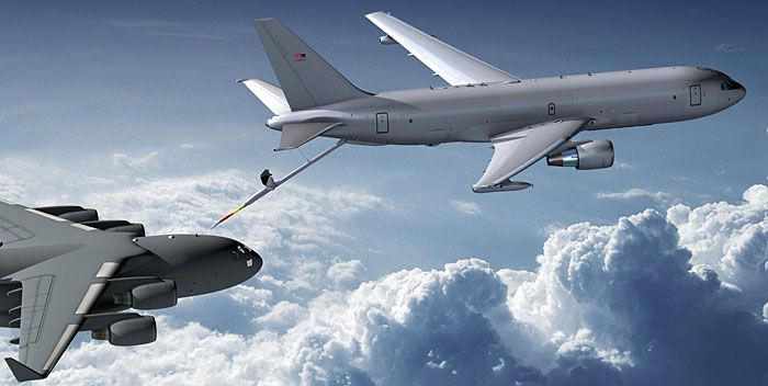 KC-46 tanker in air