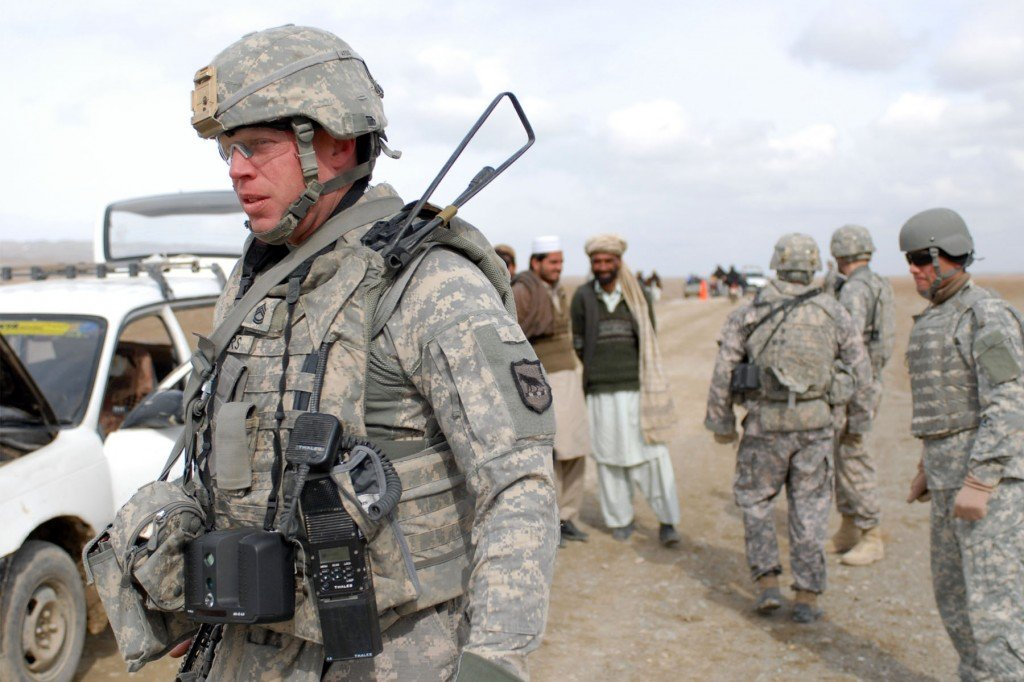 South Dakota National Guard soldiers on duty in Afghanistan.