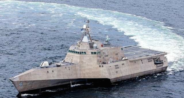 USS Coronado Littoral Combat Ship LCS sea trials