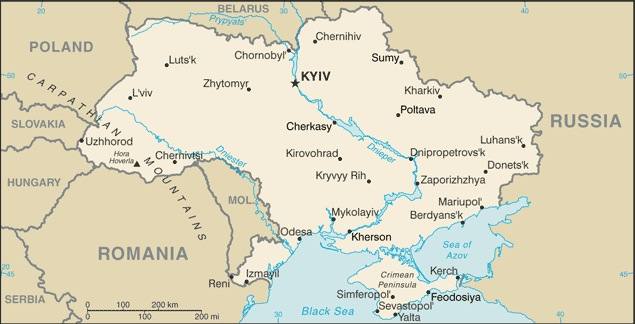Ukraine CIA map