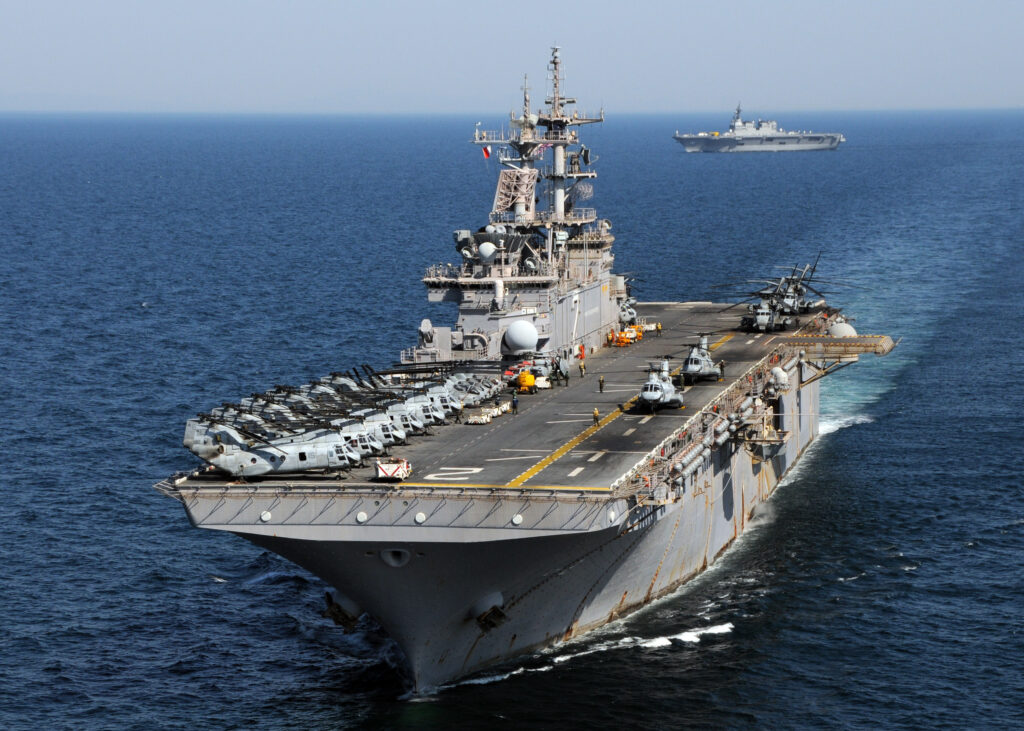 The USS Essex (pictured) is the first Navy warship with a 3D printer.