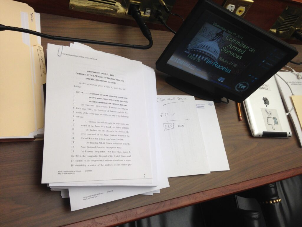 Amendments pile up on desks at HASC #NDAA 2015 IMG_6956