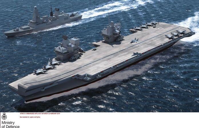 HMS Queen Elizabeth CGI image