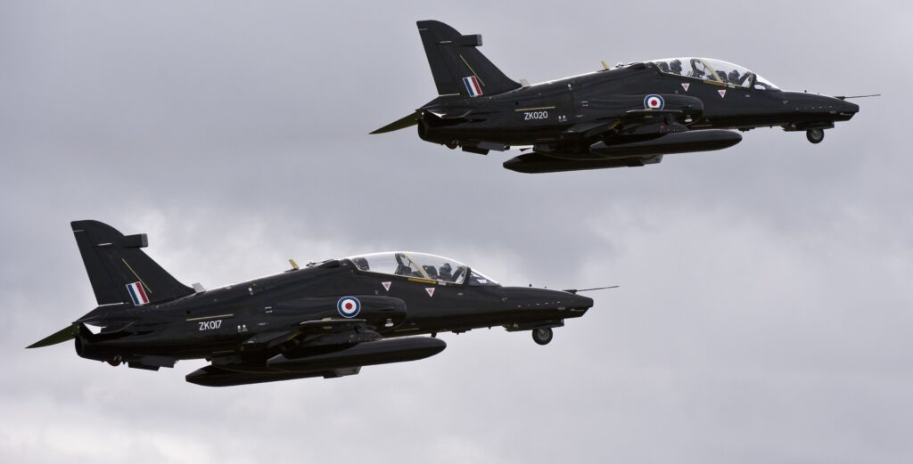 BAE Systems Hawk trainers in UK