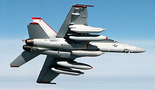 The Navy's new EA-18 Growler electronic warfare jet.