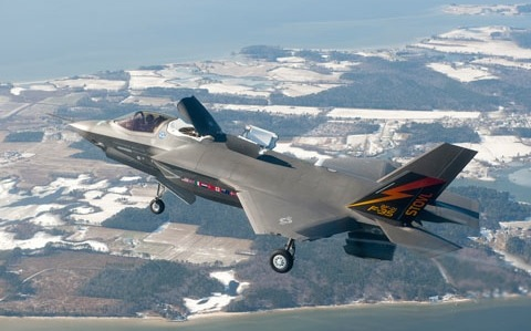 F-35B in STOVL mode