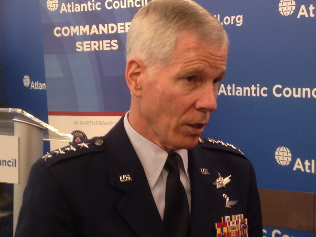 Gen. William Shelton, commander of US Air Force Space Command.