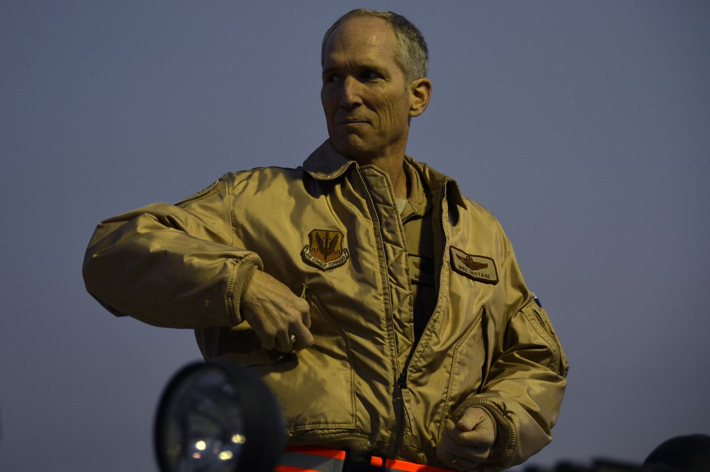 Gen. Mike Hostage at Bagram Airfield, Afghanistan in 2013.