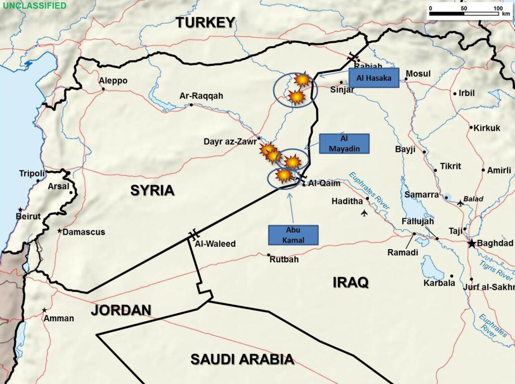 Syria Airstrike map Sept 24