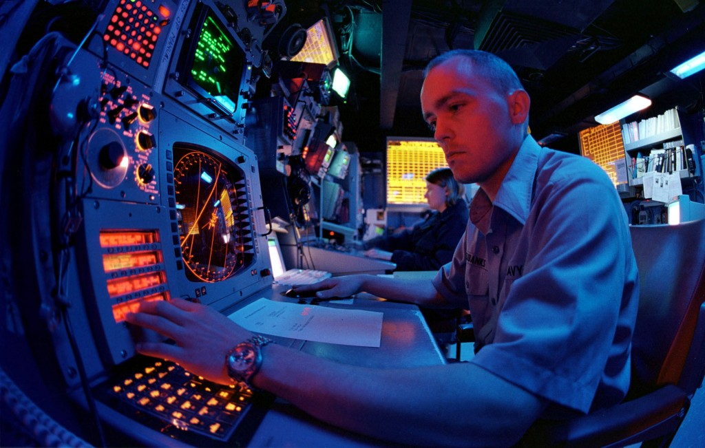 A Navy electronic warfare technician.
