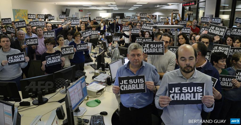 AFP protest Je Suis Charlie