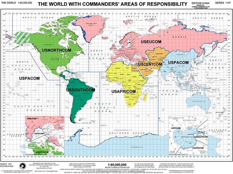 Military Bases In The Us Map Globalinterco - World map russia us