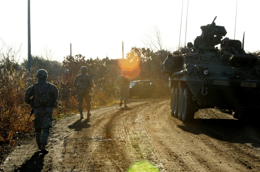 "US soldiers exercising in Japan as part of ""Pacific Pathways"""
