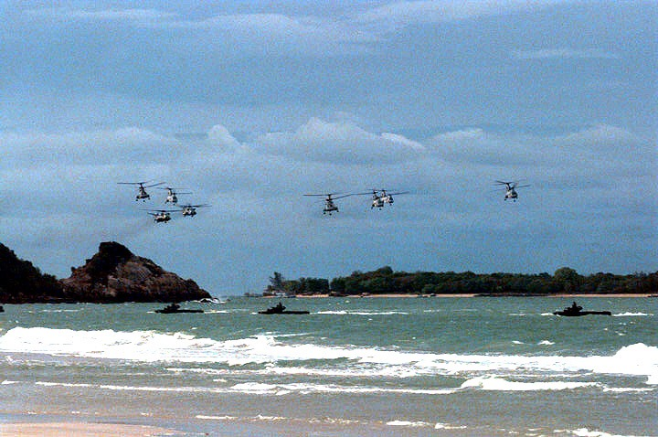 Amphibious operation  Exercise Cobra Gold 97