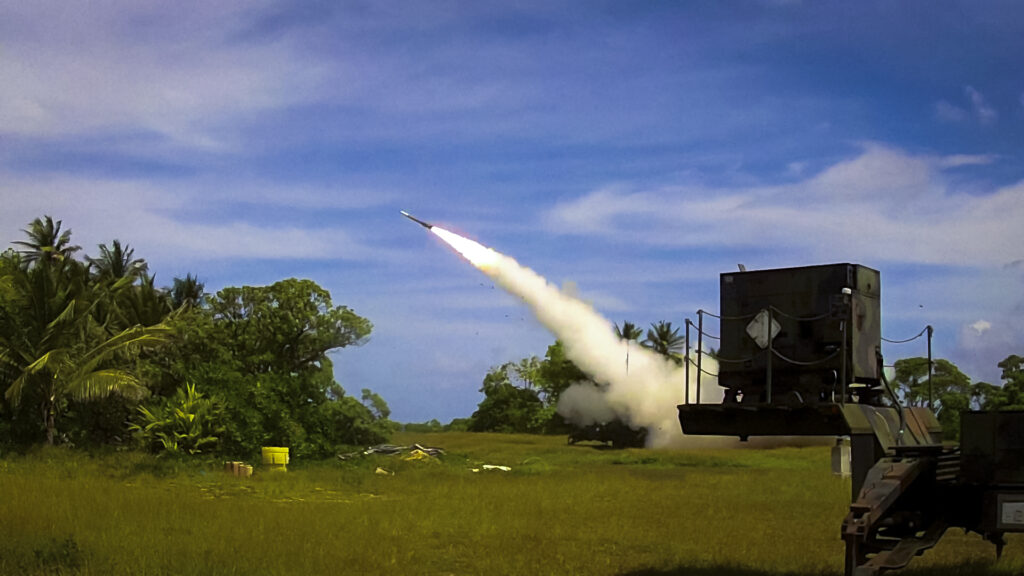 Army Patriot missile launch