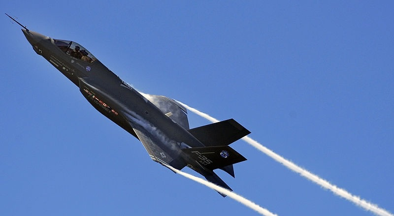F-35A climbing at Eglin Air Force Base