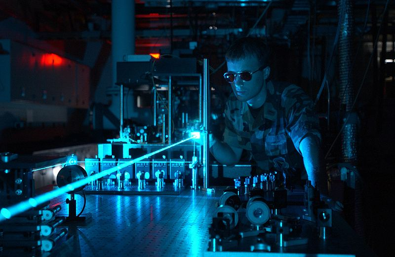 A laser experiment at the Air Force Research Laboratory
