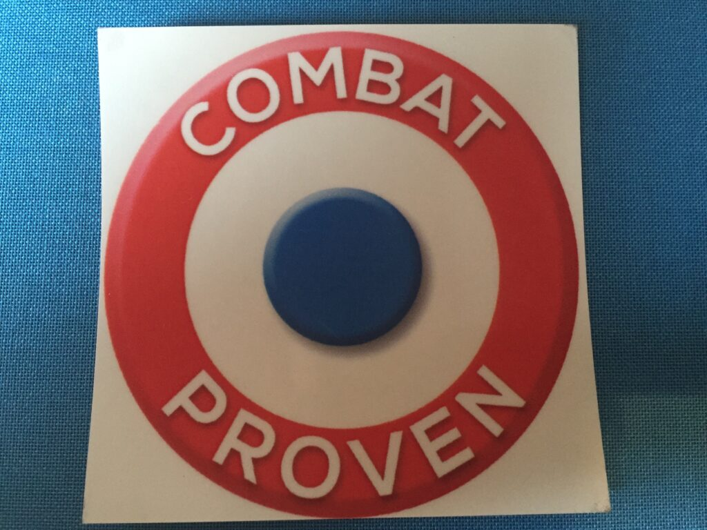 Combat Proven sticker Paris Show 2015