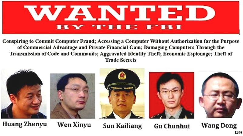 chinese hackers wanted poster
